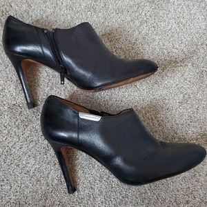 Coach ankle bootie heels